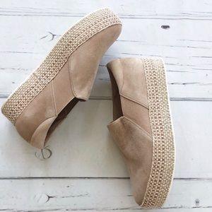 VINCE  Suede Platform espadrilles Slip on shoes